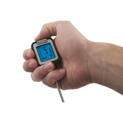 Digitális hús hőmérő, háttér világítással, gyors kijelzés