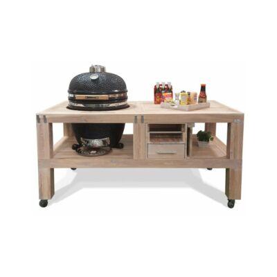 """KAMADO CHEF 19"""" KERÁMIA GRILL csomag (grill+egyedi készítésű asztal)"""
