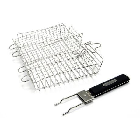 Deluxe rozsdamnetes acél grillkosár , grill eszköz