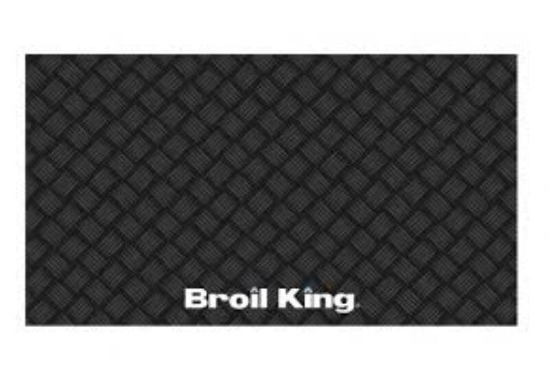 Grill alátét szőnyeg fekete (PVC)