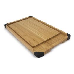 Delux bambusz vágódeszka/tálaló szett