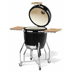 "Kamado Chef 19"" kerámia grill fekete struktúrált (bemutatótermi darab)"