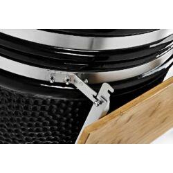 Kamado Chef 1900 Prestige Diamond Black (rozsdamentes acél) Csomag akció!