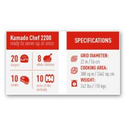 Kamado Chef 2200 Prestige Diamond Black Csomagakció